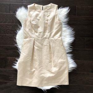 [Anthropologie Shoshanna] Gold Metallic Dress